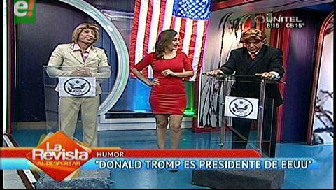 """Donald Tromp y """"Hillary Clinton"""" visitaron La Revista"""