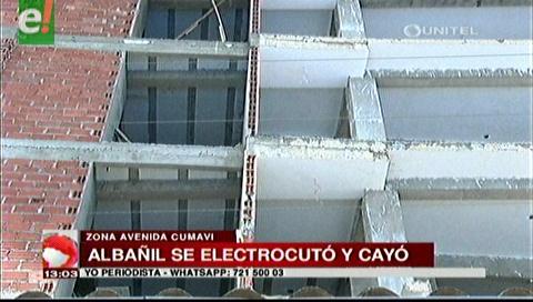 Albañil cae del tercer piso de un edificio en construcción