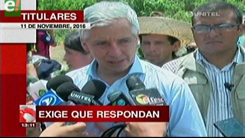 Titulares de TV: Vicepresidente acusa a Carlos Mesa de quemar documentos sobre gastos reservados