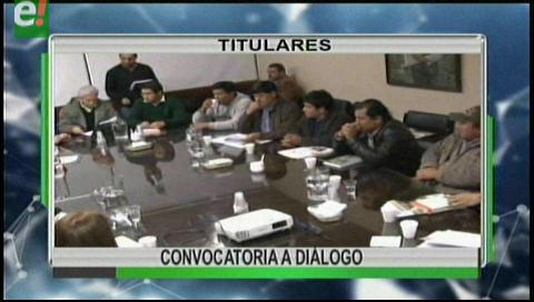 Titulares de TV: Gobernación pide reunión con municipios que demandan pago de regalías