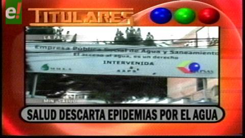 Titulares de TV: Ministerio de Salud descarta epidemia por falta de agua