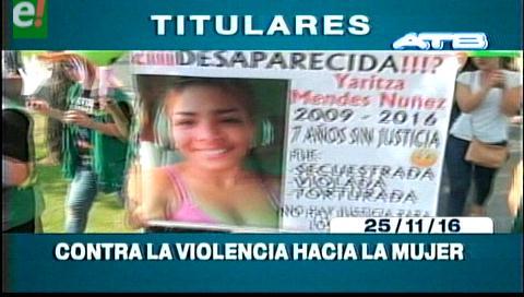 Titulares de TV: Instituciones y organizaciones marcharon en contra de la violencia a la mujer