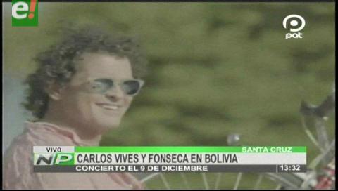 Carlos Vives y Fonseca en concierto este 9 de diciembre