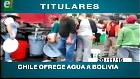 Titulares de TV: Chile ofrece agua a Bolivia