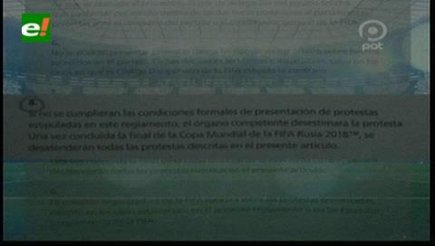 López afirma que la FIFA retirará sanción y le regresará a Bolivia los 4 puntos