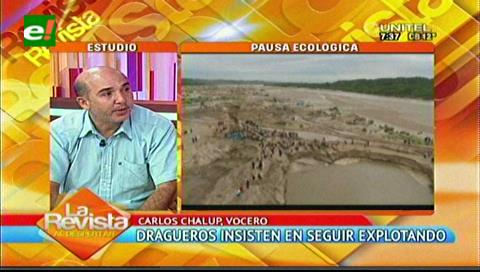 Dragueros dicen que la pausa ecológica no soluciona la contaminación del Piraí