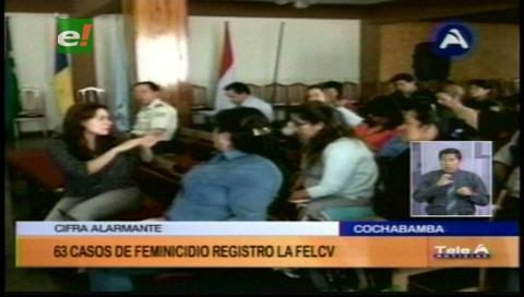 La Felcv registró 63 feminicidios en el país