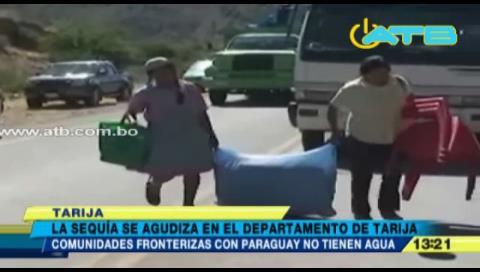 Comunarios tarijeños no reciben agua por bloqueo en Yacuiba