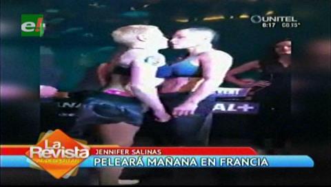 Jennifer Salinas pelea hoy en Francia