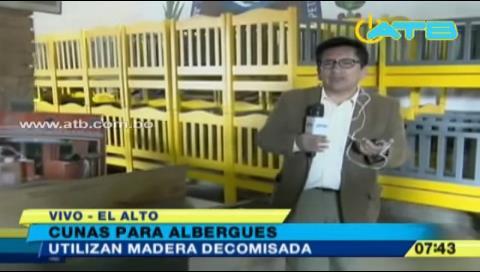 La Paz: Madera incautada es utilizada para construir cunas para albergues