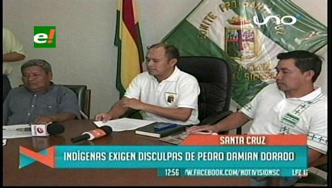 Indígenas exigen que asambleísta Damían Dorado se disculpe por pedir la modificación del himno cruceño