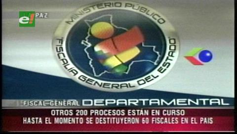 Ministerio Público destituyó a 60 fiscales por corrupción desde enero