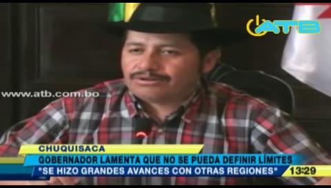 Urquizo lamenta que límites de Santa Cruz y Chuquisaca no fueron definidos