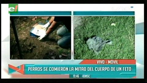 Entierran feto de bebé en una calle de la Villa Primero de Mayo