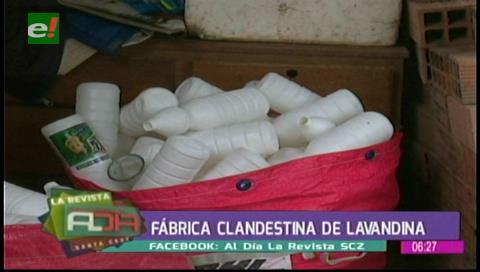 Intervienen fábrica clandestina de lavandina