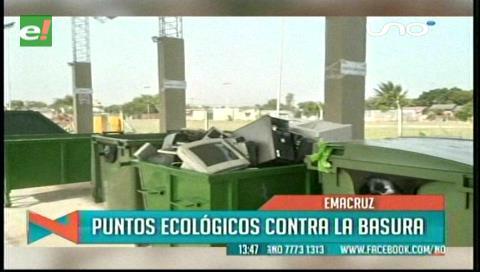 Emacruz incorporará puntos para depósito de residuos electrónicos en los distritos