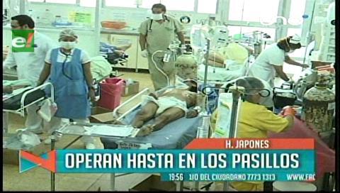 Santa Cruz: Sala de emergencia del Hospital Japonés se encuentra colapsada