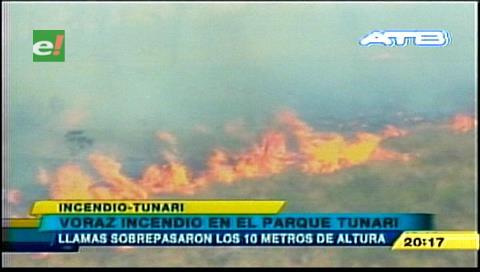 Incendio en Tunari quema 100 hectáreas de árboles