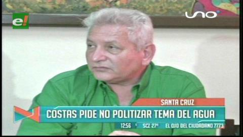 Rubén Costas pide no politizar el tema del agua