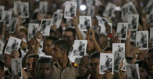 Miles participan del homenaje a Fidel Castro en La Habana