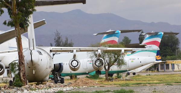 En Cochabamba. Desde la empresa explicaron que las dos naves que se encuentran en el aeropuerto Jorge Wilstermann pertenecen a LaMia Aruba y no a la que está registrada en el país