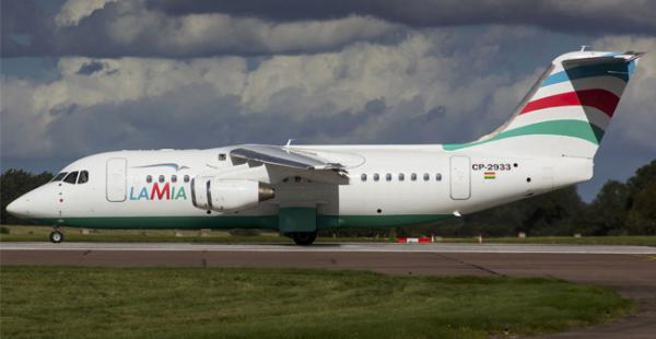 El avión de LaMia que se estrelló el lunes 28 de noviembre en Colombia