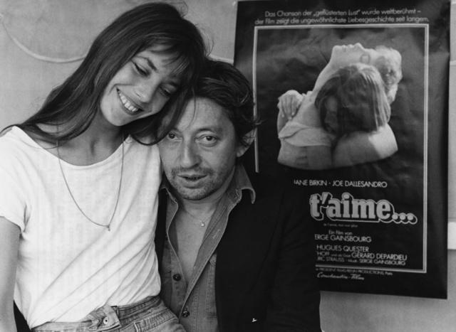 Birkin y Gainsbourg, promocionando la canción.