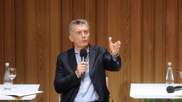 El presidente Macri en la primera jornada Nacional de Eficiencia Energética.(Telam)