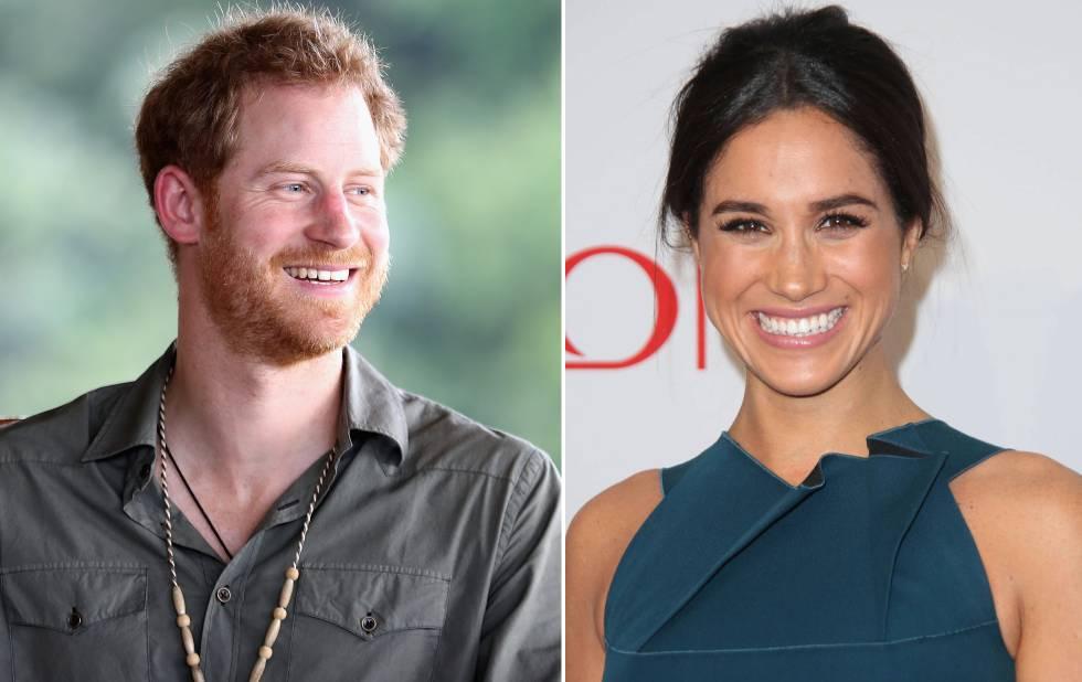 El príncipe Enrique y, a la derecha, su novia la actriz Meghan Markle.