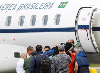Alan Ruschel volvió a Brasil el 13 de diciembre. (Reuter)