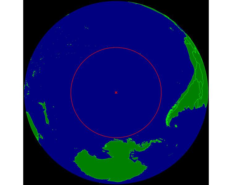 El polo de inaccesibilidad del Pacífico