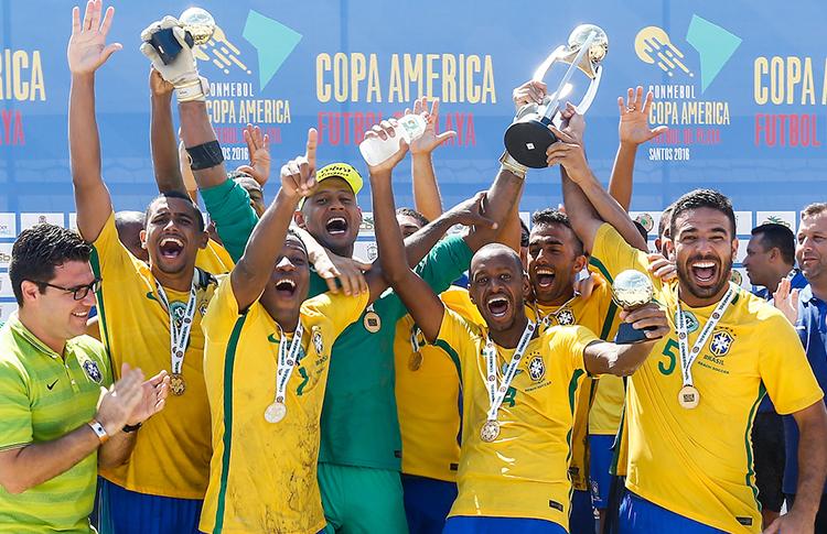 Resultado de imagen para Brasil golea 12-2 y es campeón de la Copa