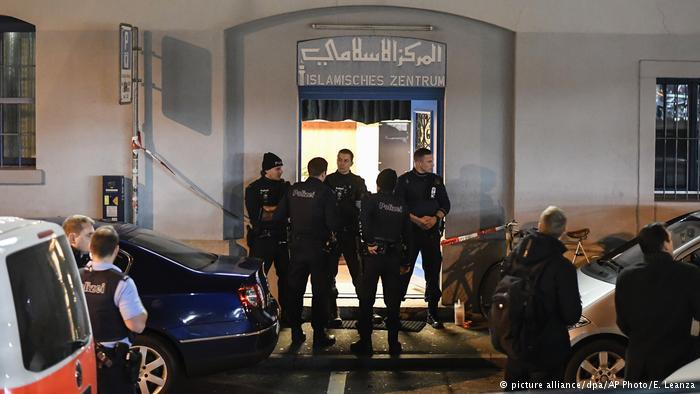 Schweiz Verletzte durch Schüsse in islamischem Zentrum in Zürich (picture alliance/dpa/AP Photo/E. Leanza)