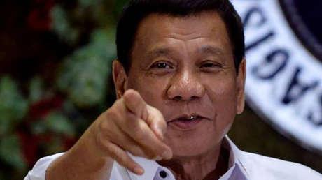 El presidente de Filipinas, Rodrigo Duterte, en el Palacio Malacanang, en Manila.