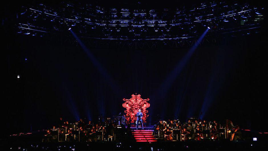 Aquí en un concierto en Milán en 2011. Michael era abiertamente gay.  (Vittorio Zunino Celotto/Getty Images)