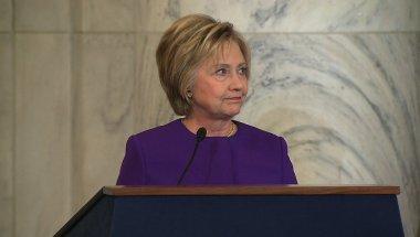 Hillary Clinton en el acto del jueves en homenaje a Harry Reid.