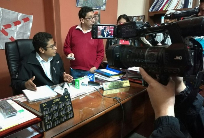 El presidente de la Brigada de Asambleistas de Chuquisaca, Elmar Callejas. Foto: CORREO DEL SUR