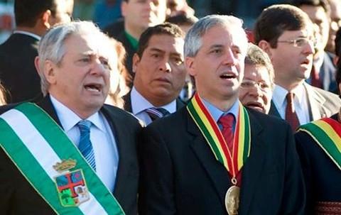 Garcia-Linera-destaca-el-apoyo-de-Percy-Fernandez-a-la-repostulacion-de-Morales