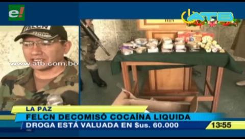 Decomisan cocaína líquida camuflada en latas de sardina