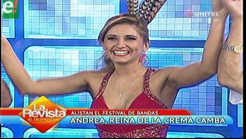 Andrea Forfori, reina de la comparsa Crema Camba
