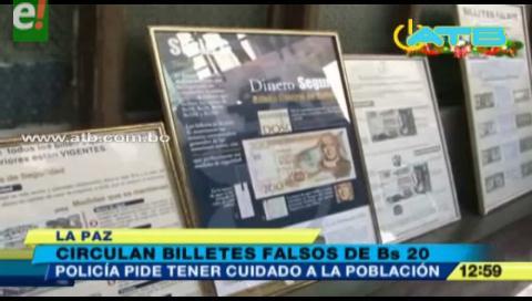 Circulan billetes falsos de Bs 10 y 20 en El Alto