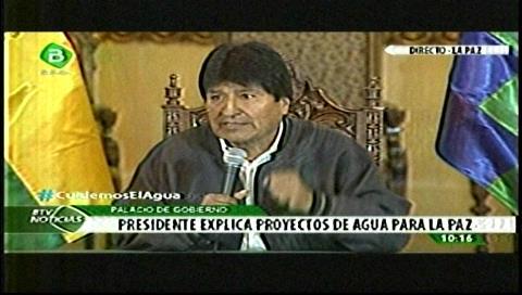 Presidente anuncia 4 proyectos para garantizar agua a La Paz y una inversión de $us 78 millones