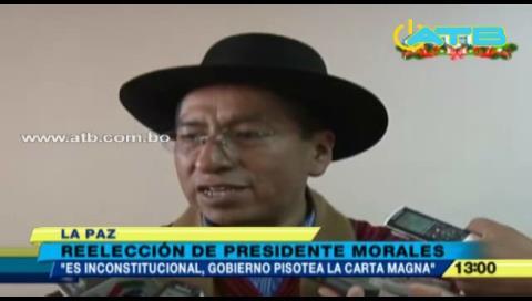 """Gualberto Cusi """"Reelección de Evo es anticonstitucional"""""""