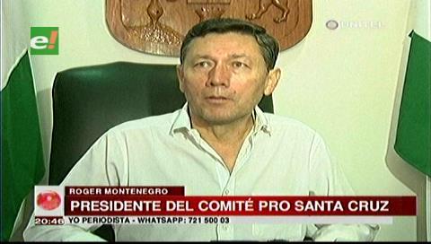 Cívicos cruceños rechazan la repostulación de Evo Morales