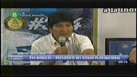 Presidente de Bolivia llama a mantener la hospitalidad y solidaridad en el Dakar 2017
