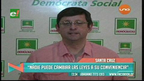 Senador Ortiz: «El presidente no puede cambiar las leyes a su conveniencia»