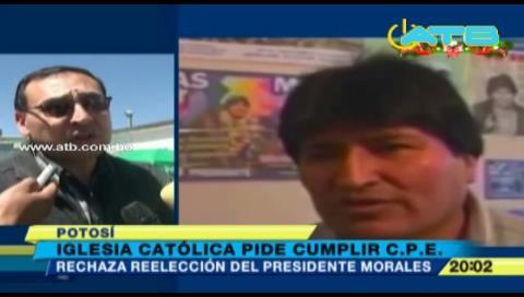 Iglesia Católica rechaza una posible repostulación de Evo Morales