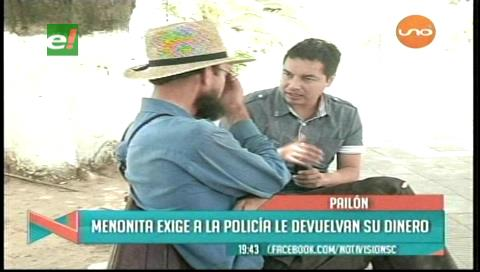 Duda de la versión policial: Menonita exige que le devuelvan el dinero recuperado