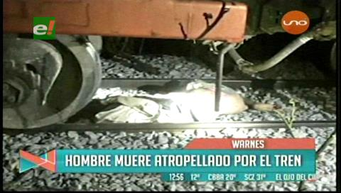 Tren arrolló a un hombre que dormía en las rieles