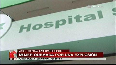 Mujer sufre serias quemaduras en el cuerpo y no recibe atención médica